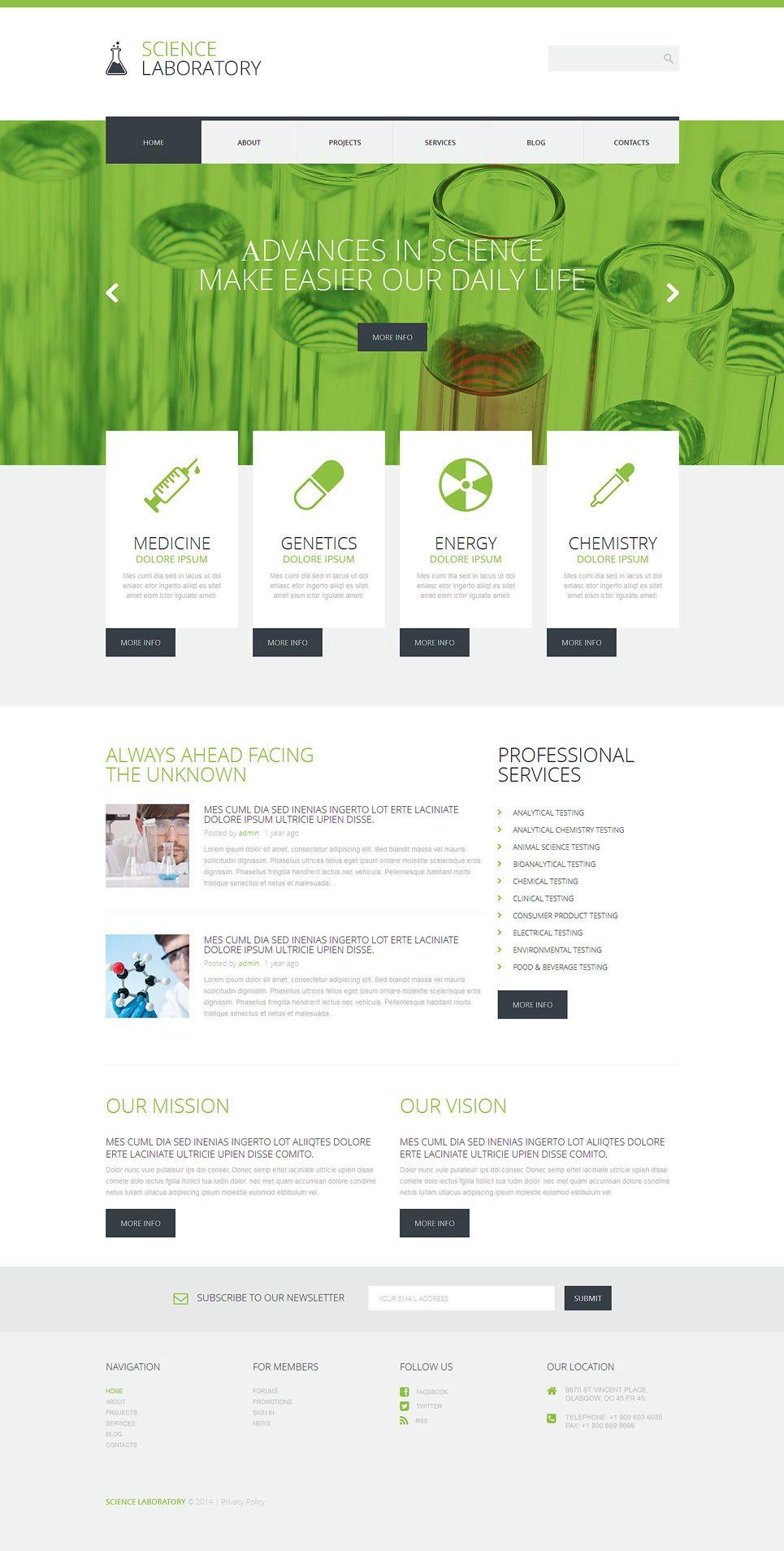 Science Lab Wordpress Theme Lab Science Theme Wordpress Science Lab Wordpress Template Wordpress Theme