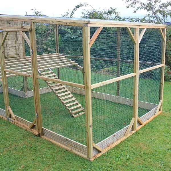 Run area of Aviary Grand Chicken Coop | Chicken coop run ...