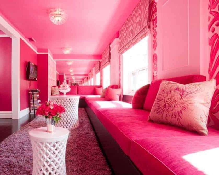 Home Design and Decor , Adorable Pink Room Design In The House ...