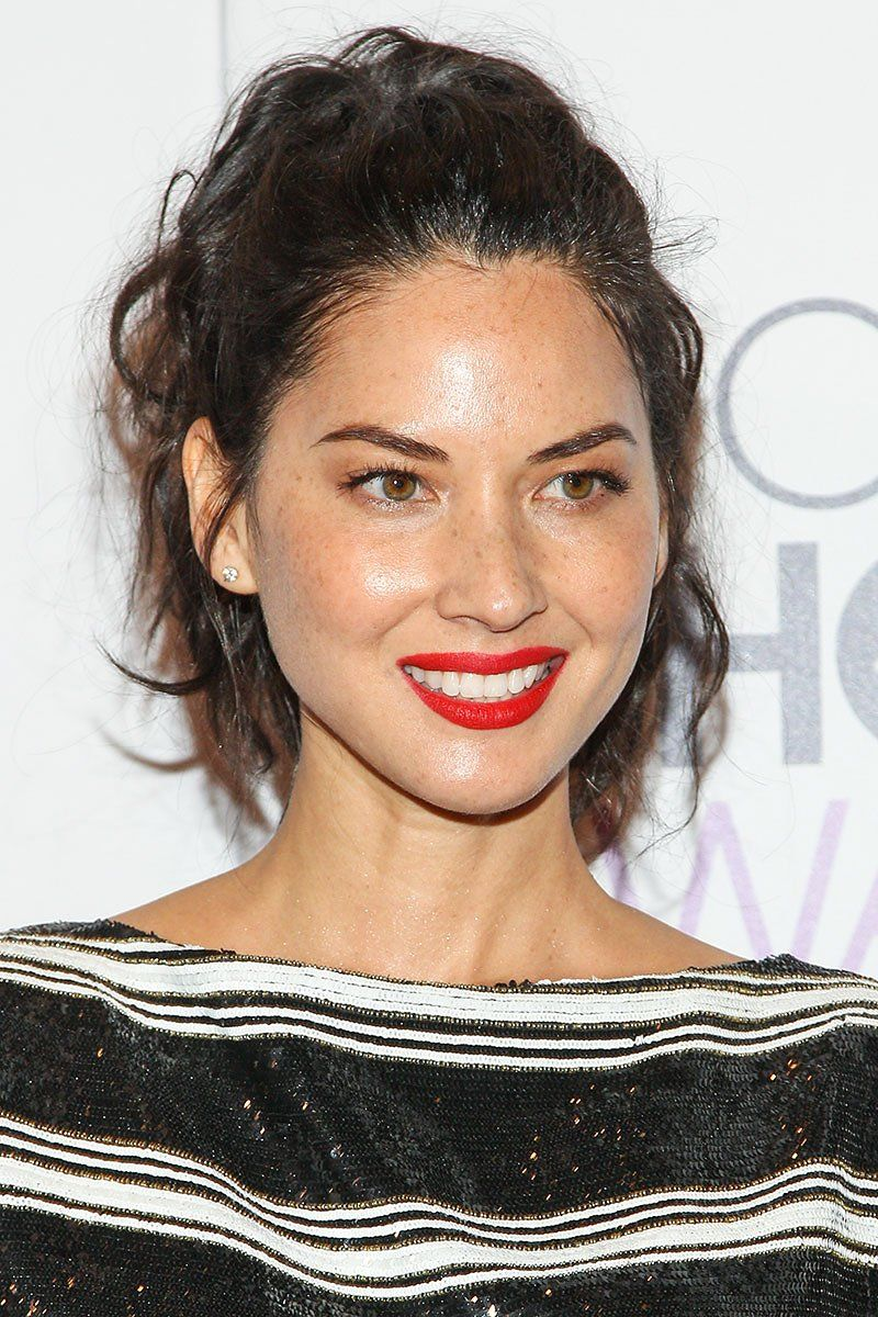 Olivia Munn and the Art of Bright Lipstick Why Dewy Skin