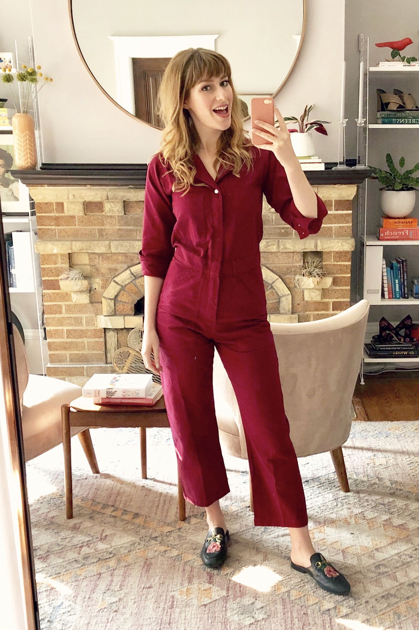 680389e9880 Big bud press utility style jumpsuit in cranberry