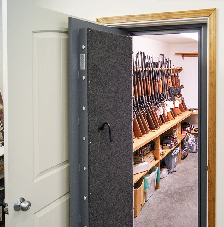 Vault doors safe room doors for sale made in usa for How to build a gun safe room