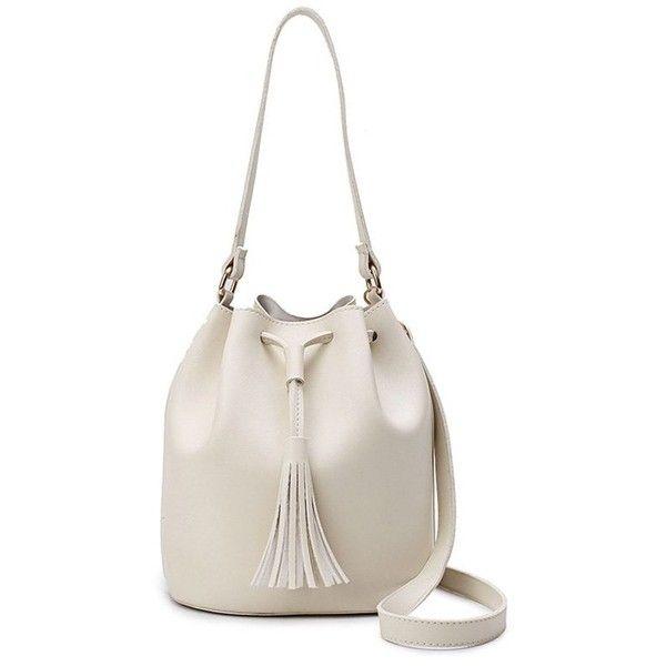 Drawstring Tassel Bucket Bag 33 Liked On Polyvore Featuring Bags Handbags