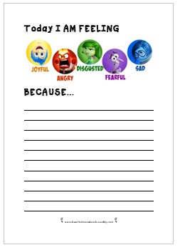 Inside Out Worksheets Emotions Activities Inside Out Emotions Social Emotional Learning