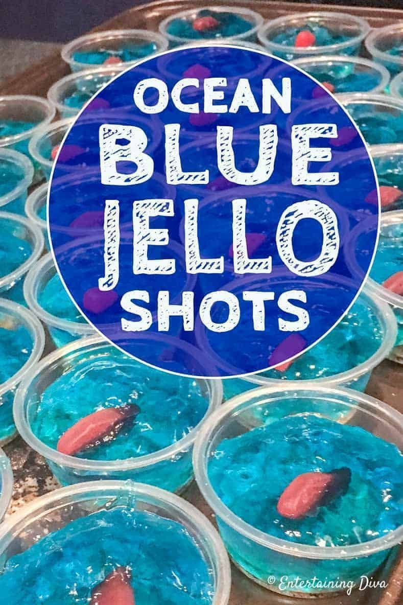 I LOVE this blue  jello shot recipe that looks like the ocean! It's made with my...
