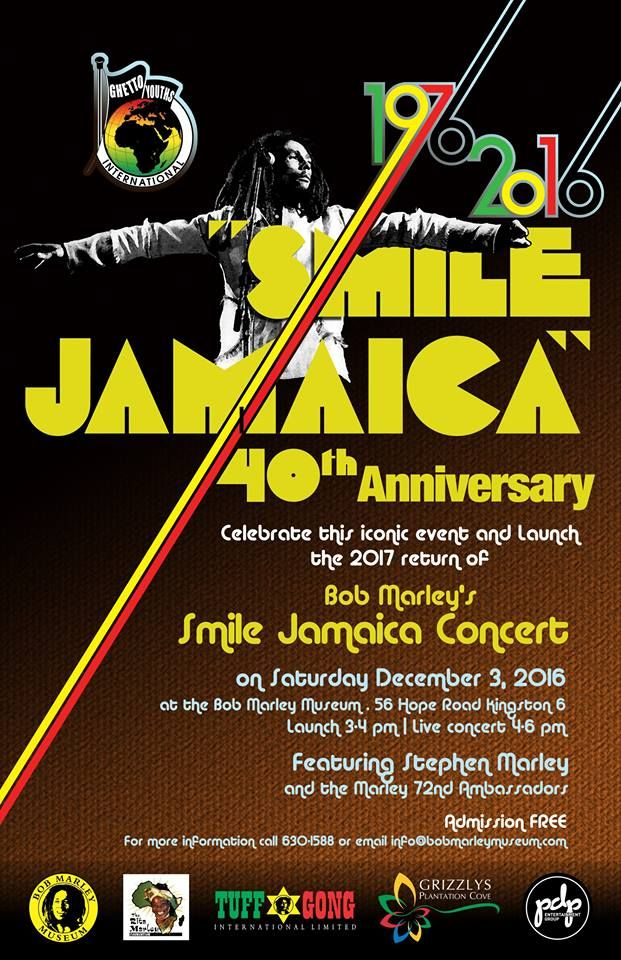 Smile Jamaica Concert - 40th Anniversary Celebration #56HopeRoad #BobMarley #BobMarleyMuseum #BobMarleyTribute #Marley72ndAmbassadors #SmileJamaicaConcert #StephenMarley #StephenMarley