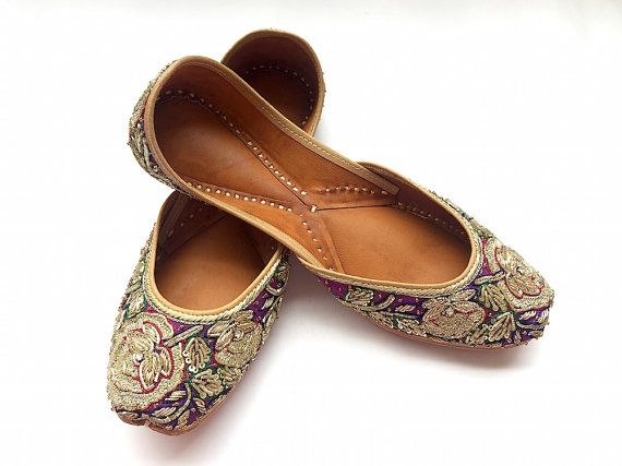 Pink Leather Ethnic Ballet Flat Shoes for Women Womens Casual Shoes Slip Ons Indian Shoes Handmade Shoes
