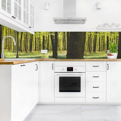 Photo of Ebern Designs PVC splash protection panel self-adhesive bacon forest meadow | Wayfair.de