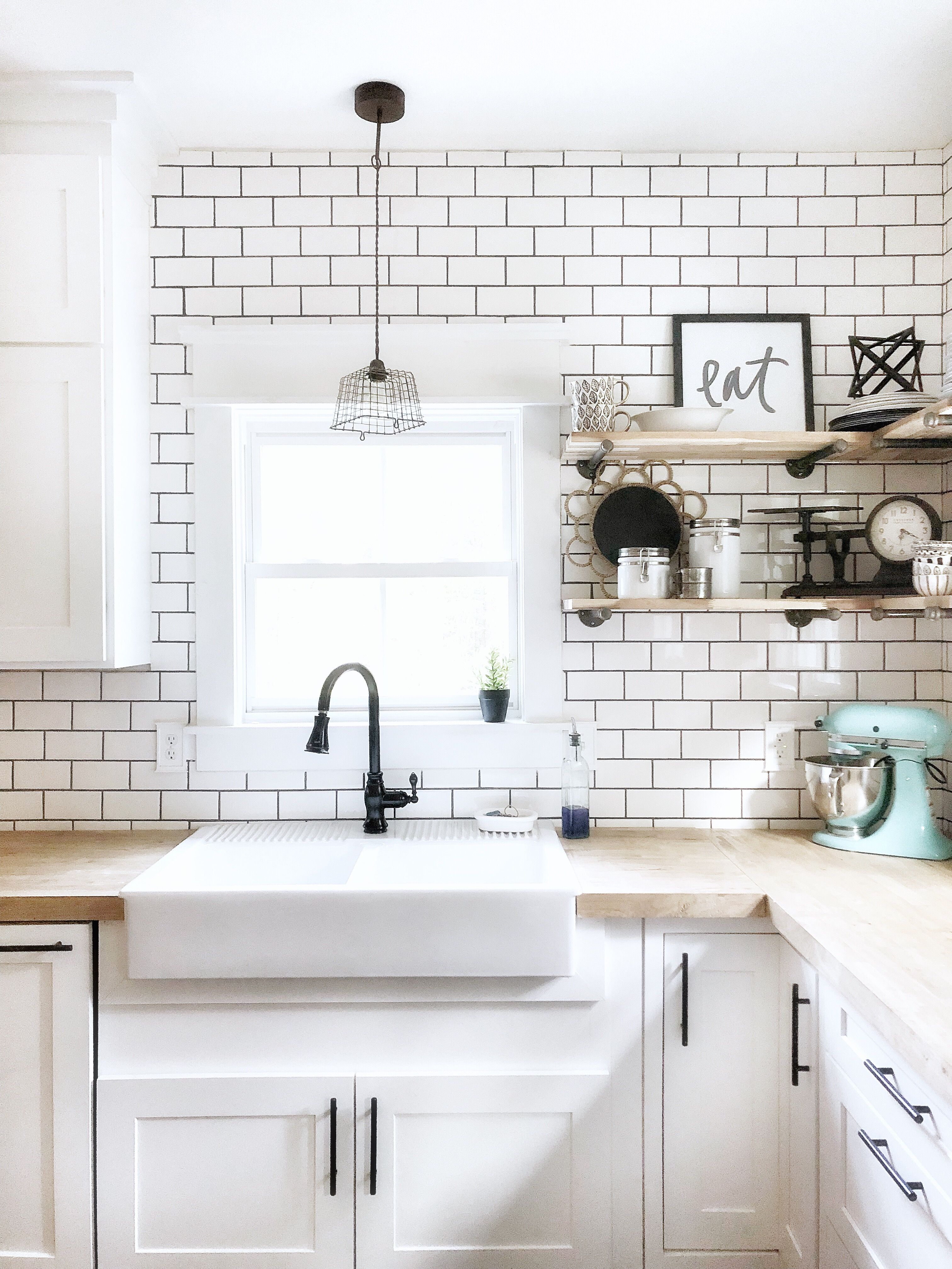 Can you believe this apron front sink is from Ikea!? And