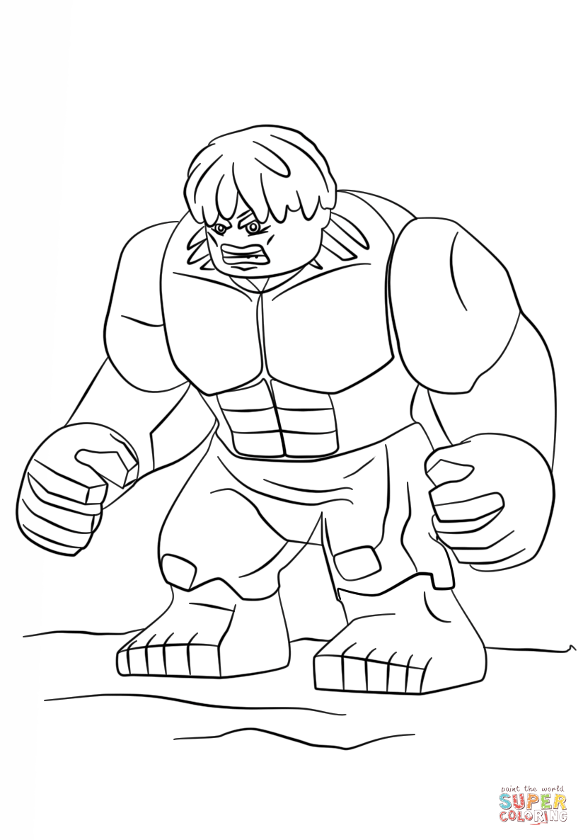 Lego Hulk Coloring Page Free Printable Coloring Pages Lego Para
