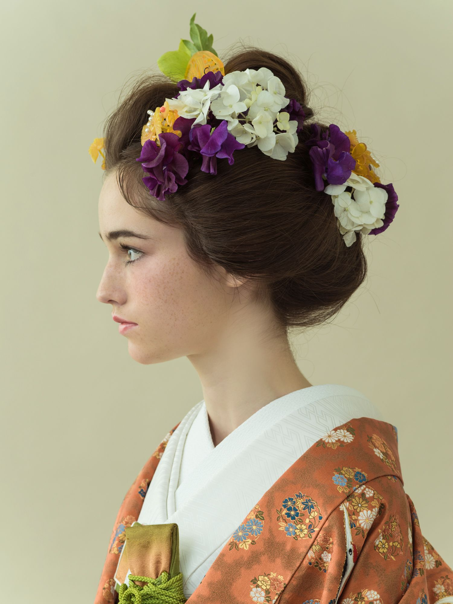 和装 着物 / japanese modern style wedding hairstyle
