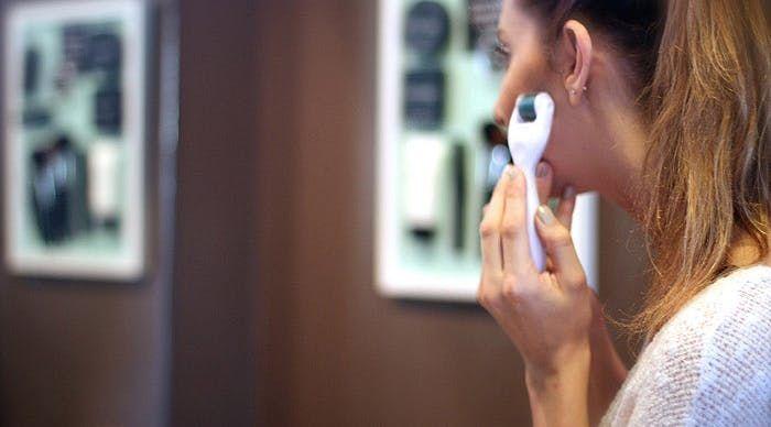 The Latest Skin-Care Fad Involves Rolling Tiny Needles Across Your Face #OrganicSkinCareRecipes