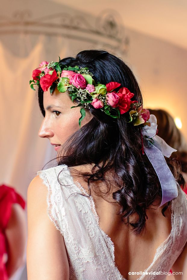 Un mariage champêtre multicolore en Normandie