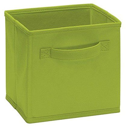 Closetmaid 1540 Cubeicals Mini Fabric Drawers, Spring Green, 2 Pack