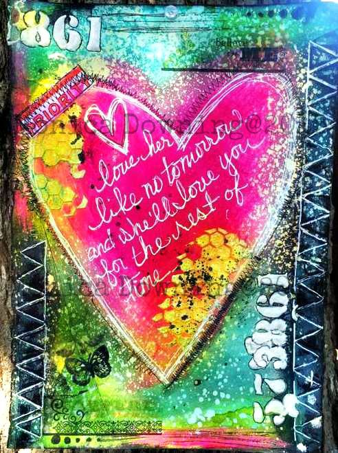 Art Journal Page...Monica Downing / Art Anthology. Snapguide here https://snapguide.com/guides/create-an-art-journal-page-with-art-anthology-monica-downing/