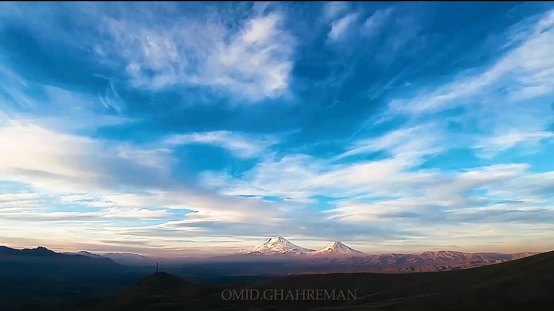 Ararat mountain time lapse video from maku   Omid Ghahreman ویدئو گذر زمان کوه آرارات از ماکو امید قهرمان