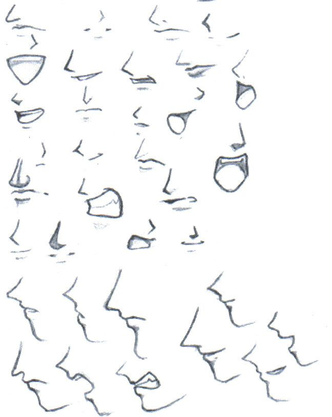 This Is How You Draw Anime Facial Expressions Anime Mouth
