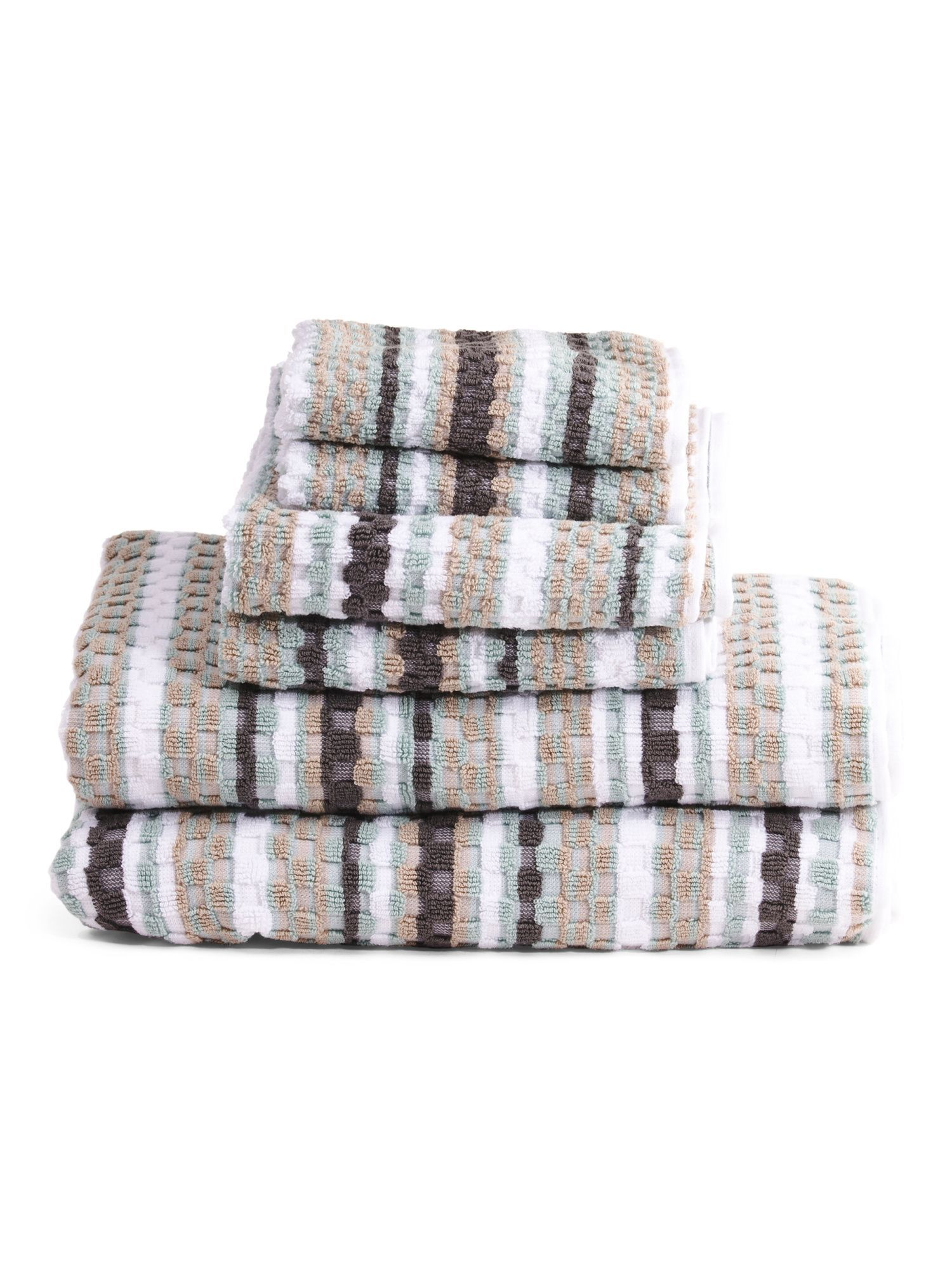 Made In India 6pc Waffle Check Towel Set Towel Set Towel India