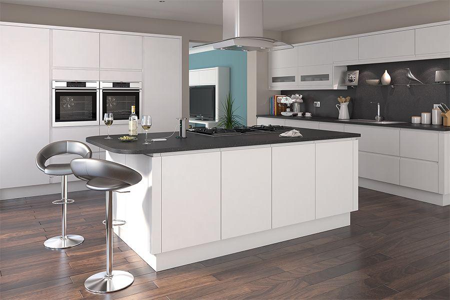 Best Luca Matt White Kitchens Buy Luca Matt White Kitchen 400 x 300