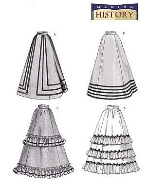 Butterick 3418 Misses Victorian Skirts Petticoat by scarlettess, $9.65