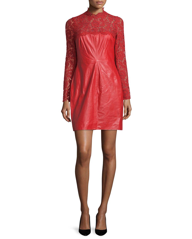Longsleeve combo sheath dress red products pinterest top