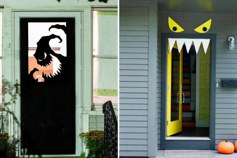 Halloween Door Decorations - The Handy Mano #halloweendoordecorations