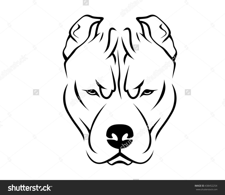 Pin By Loren Childress On Logos Pitbull Art Pitbull Drawing