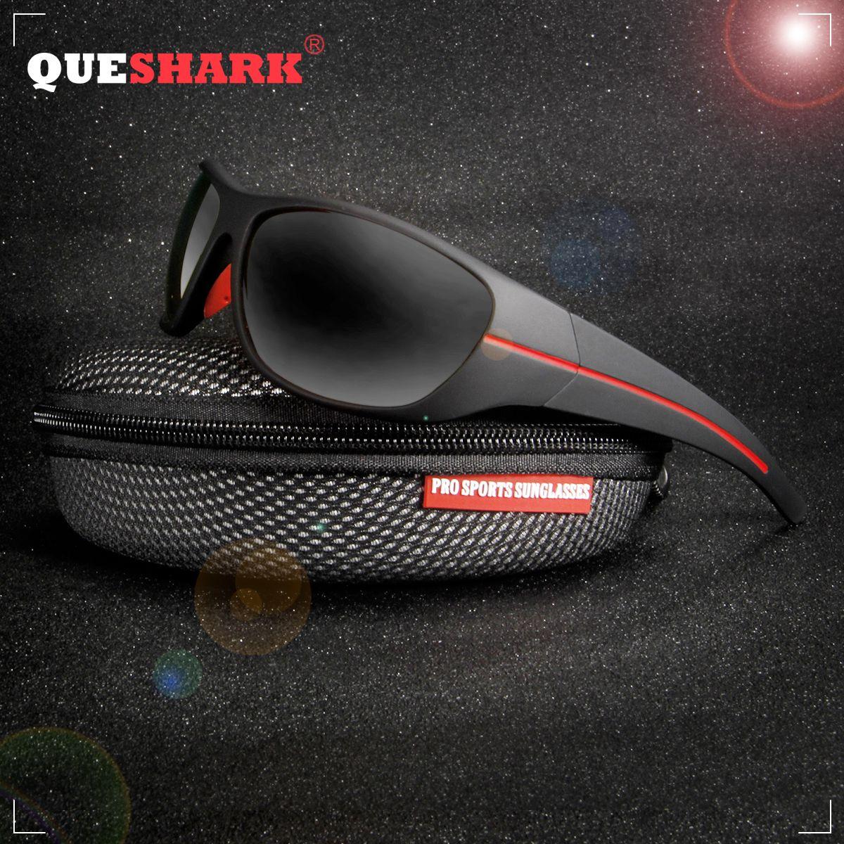 09a6c85bd QUESHARK TR90 Frame HD Polarized Sunglasses Pro Fishing Eyewear Glasses For  Men Women Hiking Running Golf