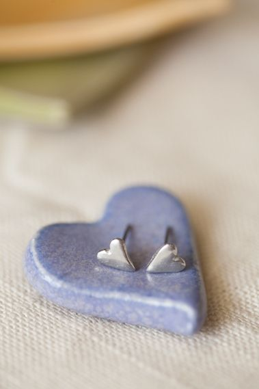 8448b7f0b pewter tiny heart earrings | Lisa Leonard Designs | My Style ...