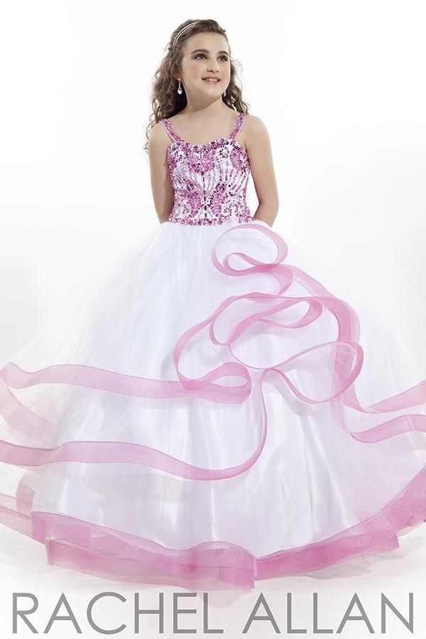 2015 Bling White Girl\'s Pageant Dresses with Crystal Beaded ...