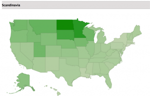 North Dakota Has The Highest Mix Of Scandinavian Ethnicity Ancestry Blog Infp Personality Type Mbti Geography