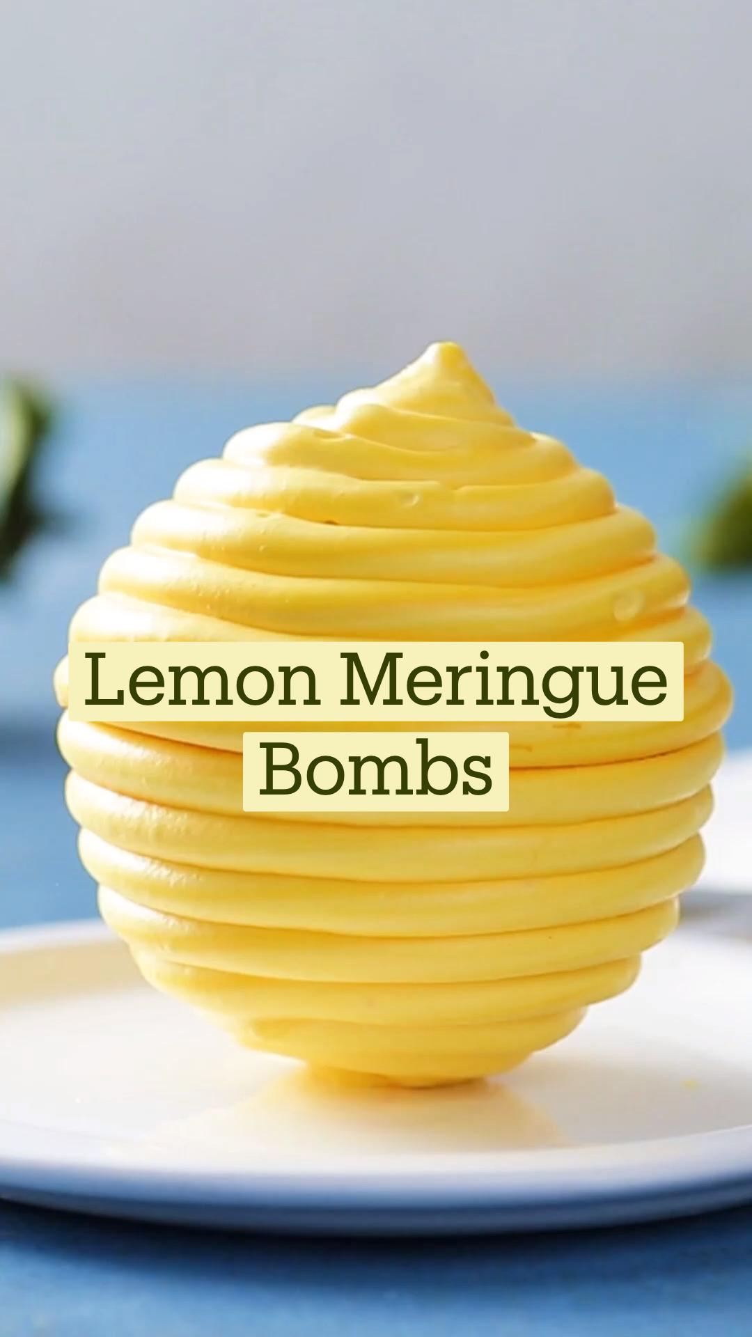 Lemon Meringue Bombs
