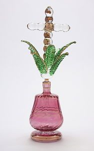 Blown glass Egyptian bottle