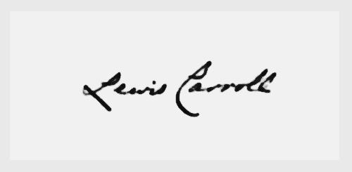 Lewis Carroll S Signature Signatures Handwriting Lewis Carroll Cool Signatures