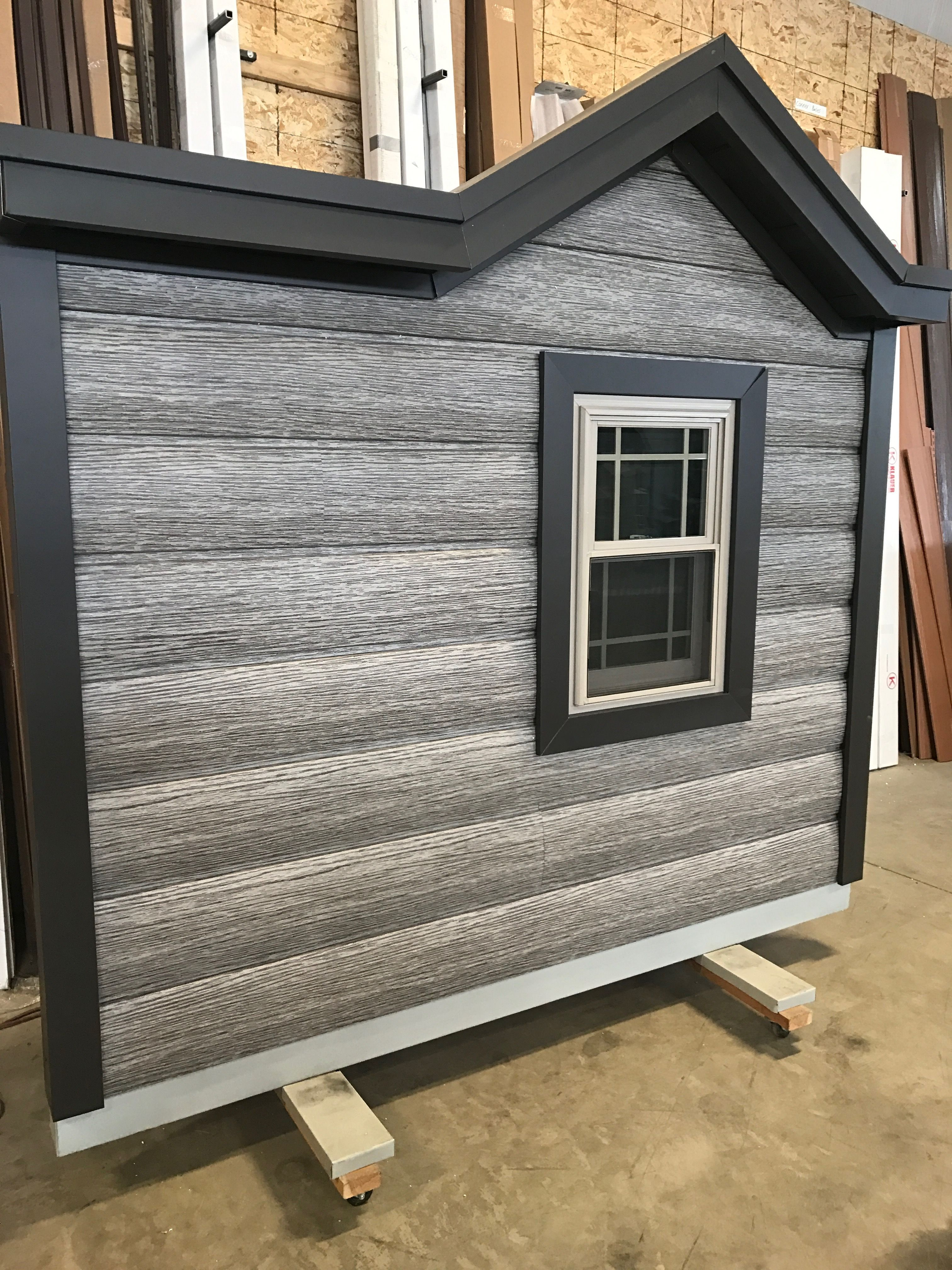 Rustic Looking Barnwood Gray In Steel Log Siding Get The Look Of Weathered Logs And The Maintenance Free Perk Log Cabin Exterior Log Siding House Exterior