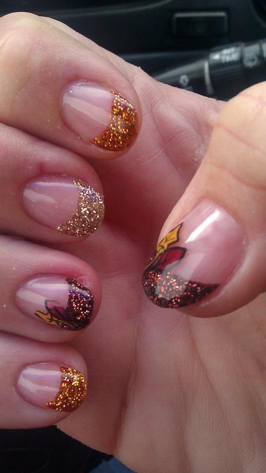 What do you think of these nails Lacey? I\'m not one for fancy nails ...