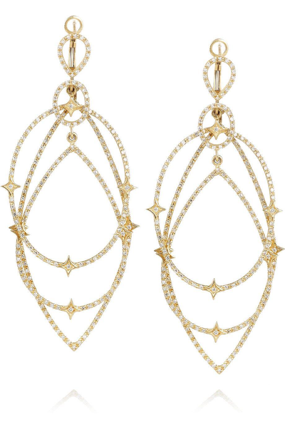 Loree Rodkin   Michelle 18-karat gold diamond earrings   NET-A-PORTER.COM
