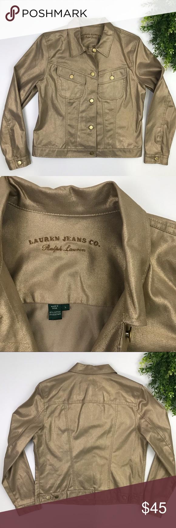 Lauren Jeans Co Ralph Lauren Gold Denim Jacket Beautiful Jacket Denim Jacket Clothes Design [ 1740 x 580 Pixel ]