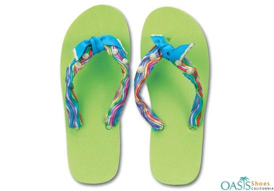 1f50f16e7 Pastel Green with Candy Stripe Flip Flop