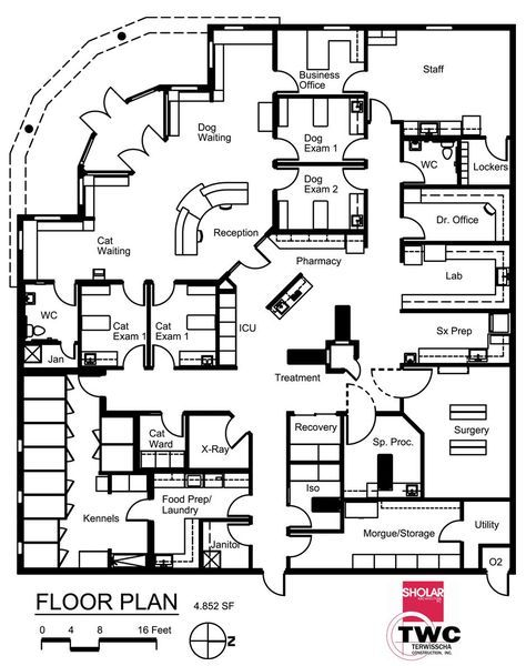 Medical Center Plan Office Floor 27 New Ideas In 2020 Hospital Design Pet Clinic Hospital Floor Plan
