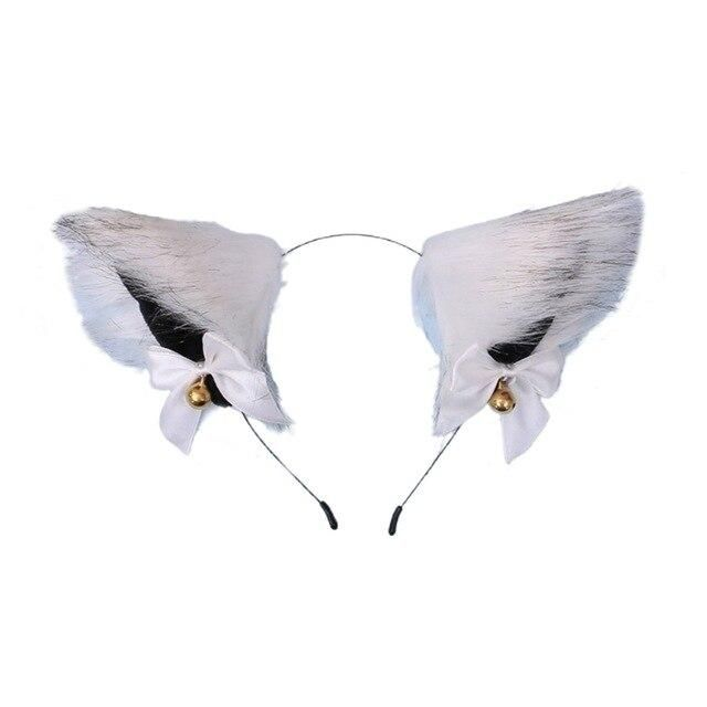 Photo of Women Sweet Lovely Anime Lolita Headband Cute Furry Plush Cat Ears Hair Hoop with Bowknot Small Bells Fancy Dress Cosplay Party – 8