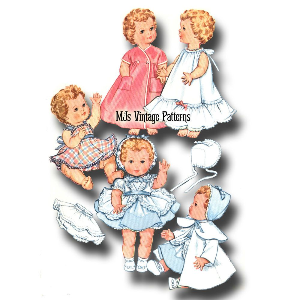 "Dy Dee Betsy Wetsy Vintage 1950s Doll Clothes Pattern ~ 11/"" 12/"" Tiny Tears"
