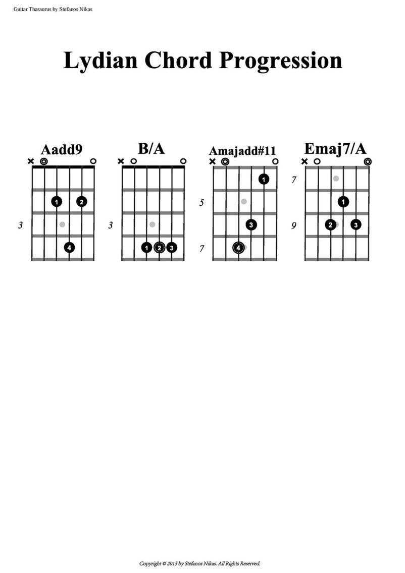 Lydian chord progression my love pinterest lydian chord progression hexwebz Image collections