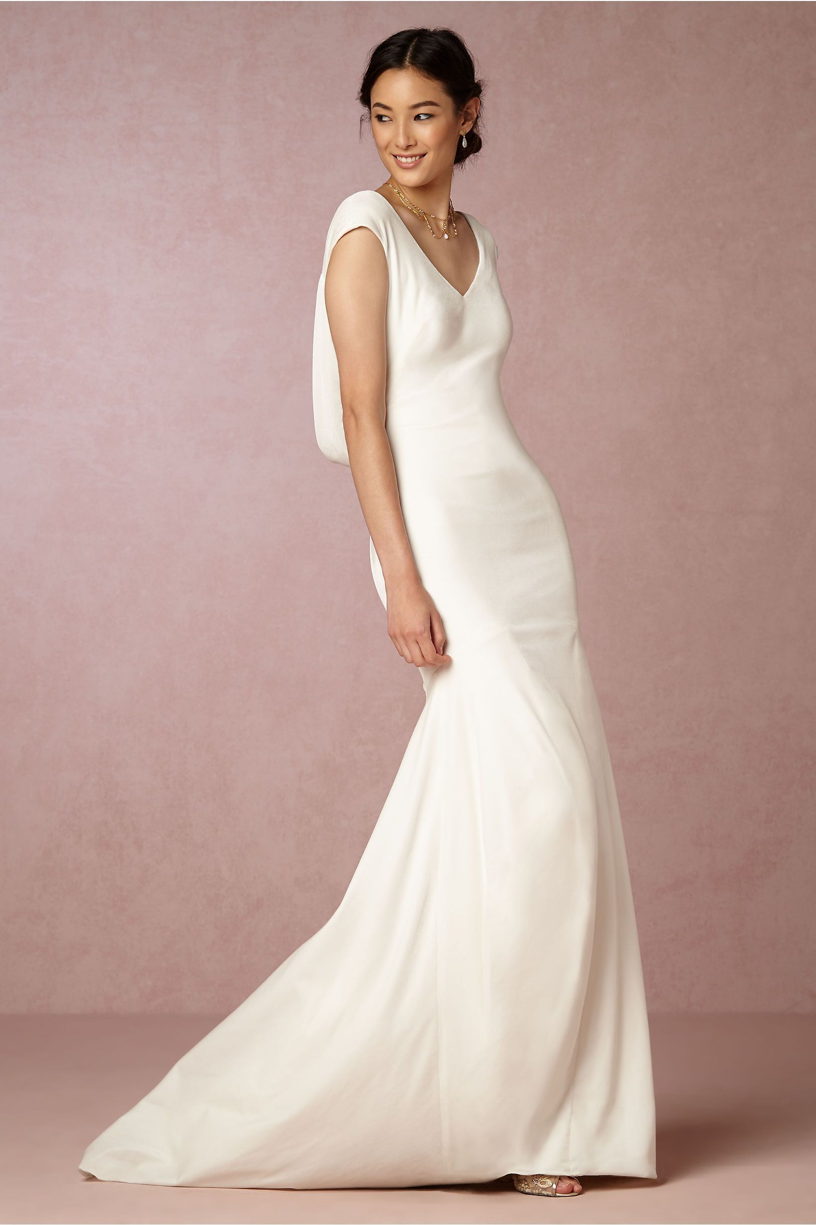Theia wedding dresses  BHLDN Theia Ingrid Velvet Gown  Velvet gown Gowns and Wedding dress