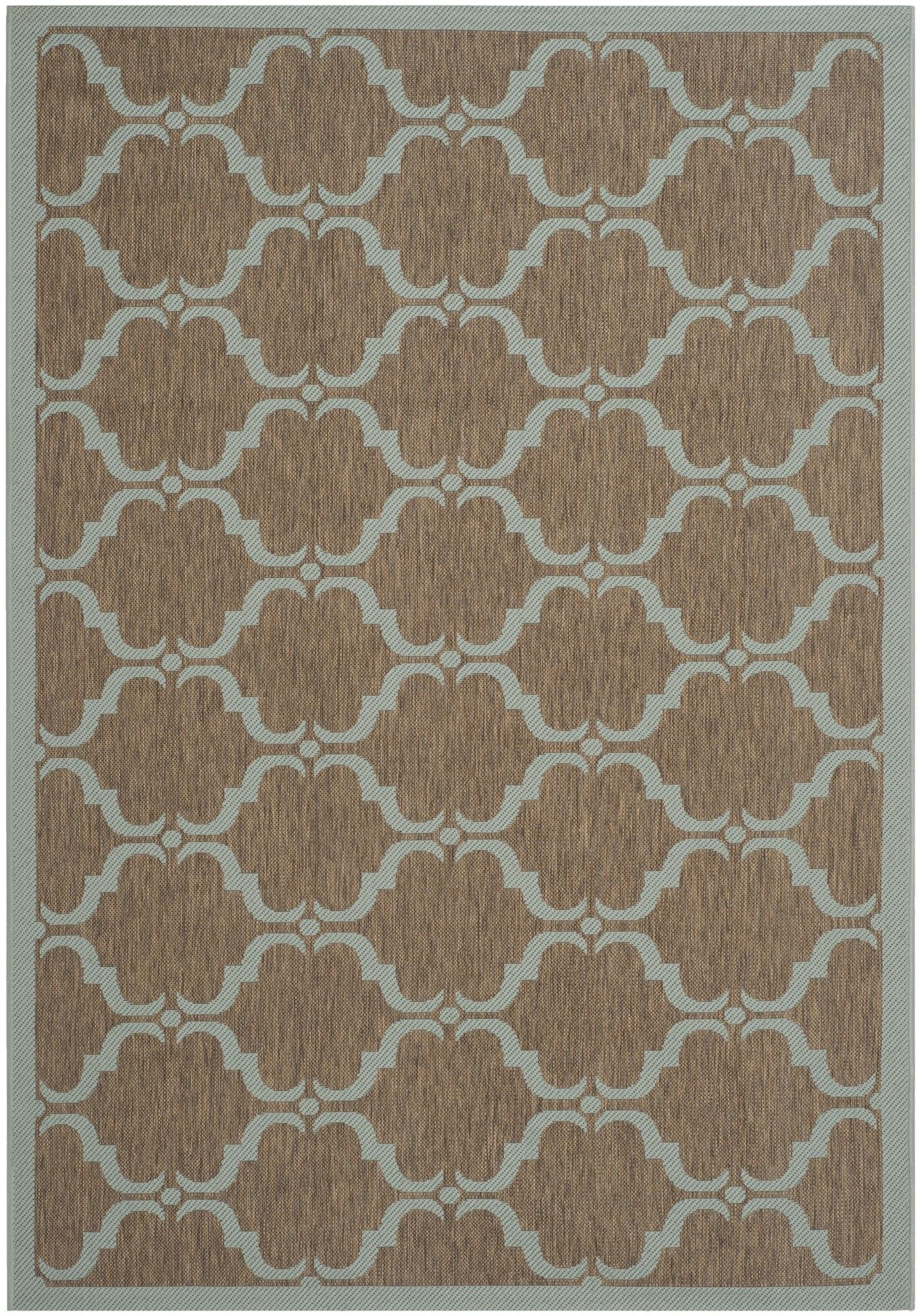 Schofield Brown / Aqua Indoor / Outdoor Area Rug