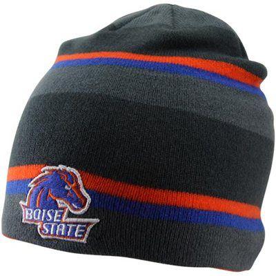 Nike Boise State Broncos Youth Striped Knit Beanie - Gray Royal Blue Orange e5b5f17164a