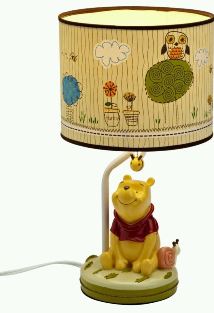 Disney baby winnie the pooh lamp shade base babies shower kids disney baby winnie the pooh lamp shade base babies shower kids gift light new aloadofball Images