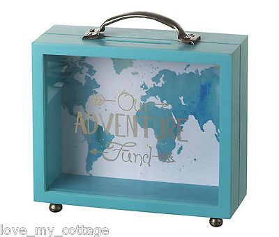 Adventure fund save for holiday travel moneybank money box for Travel fund piggy bank