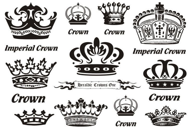 22dc52075 Waterproof Temporary Fake Tattoo Stickers Cool Imperial Crown Royal Design  Body Art Make Up Tools