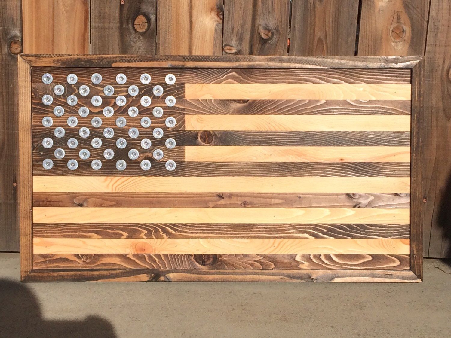 Rustic American, Stained, Wall Art, Man Cave, Wall Decor, US Flag ...